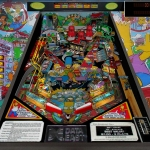 Data East The Simpsons pinball machine playfield