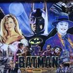 Batman pinball machine backglass
