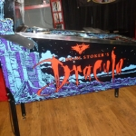 Pinball UK Bram Stokers Dracula pinball machine cabinet