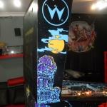 Pinball UK Bram Stokers Dracula pinball machine backbox