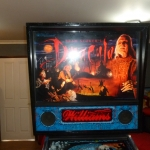 Pinball UK Bram Stokers Dracula pinball machine backbox